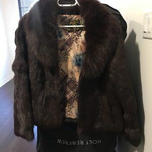 Jackets & Blazers - Rabbit fur coat with fox collar
